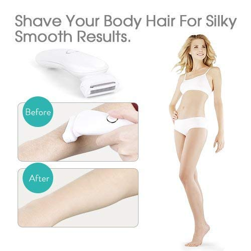 Cordless Women's Electric Shaver, Waterproof Hair Remover & Bikini Trimmer - White