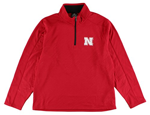 Sleet Embossed 1/4 Zip Jacket-Nebraska Cornhuskers-Large ()