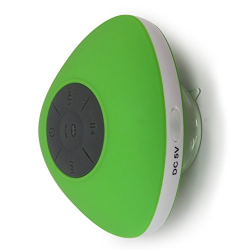 Latest 2015 Design IPX4 Slimline Waterproof Bluetooth Shower Speakers From HotelSpa (Green) by HotelSpa