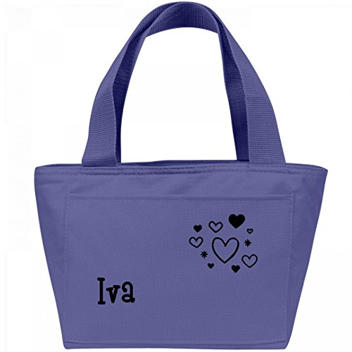 Lunchbox Hearts For Iva  Liberty Bags Recycled Cooler Lunch Box Bag