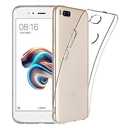 uk availability 87d2e b56ed Thinkzy Silicone Thermoplastic Polyurethane Transparent Clear Soft Back  Case Cover for Xiaomi Mi A1