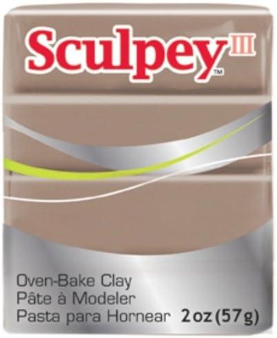 Polyform Sculpey III Polymer Clay 2-Ounce Hazelnut