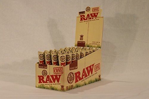 36-Raw-ORGANIC-Cones-Pre-Rolled-Rolling-Papers-Raw-ORGANIC-Natural-Unrefined-Cones-Rolling-Paper-King-Size-12-Packs-of-3-Cones-Beamer-Smoke-Limited-Edition-Sticker