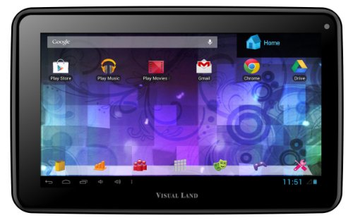 "Visual Land Prestige PRO 7D-TC - 7"" Dual Core 8GB Android Tablet with Case, JellyBean4.1, Google Play (Black)"