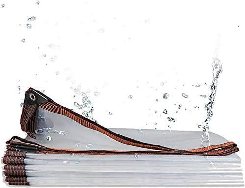 クリアターポリン防水ポリエチレン、透明タープカバーヘビーデューティーアンチティアアンチウィンド防雨タープ、保育園温室ガーデン用グロメット