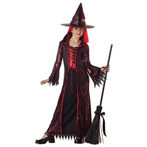 (Child's Devil Witch Halloween Costume (Size: Medium)
