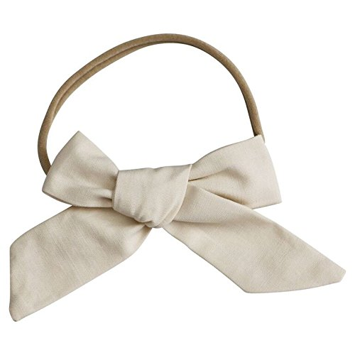 3 Pack hand-Tied Girl Bows On Nylon Headband (PCB) (Large)