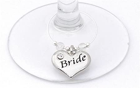 Wedding Top Table Wine Glass Charms - Set of 10: Amazon.co.uk ...