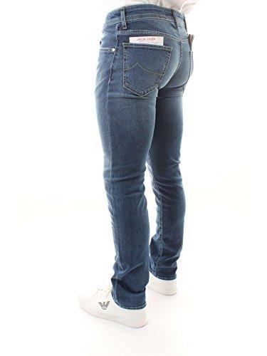 Jacob Hombre Vaqueros Cohen Denim Pantalones Blu PW62201133 naqxarRwI