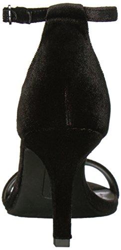 Sandalo Con Zeppa Nero Fasciato In Velluto Nero