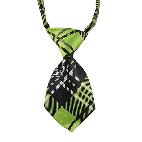 EOM Selected Adjustable Dog Bow Tie Puppy Pet Costume Collar Stripe Bow Tie Dogs Cats Puppy Tie Neck Tie - Perfect for Wedding Tie Party Accessories (Dog Necktie-Green -