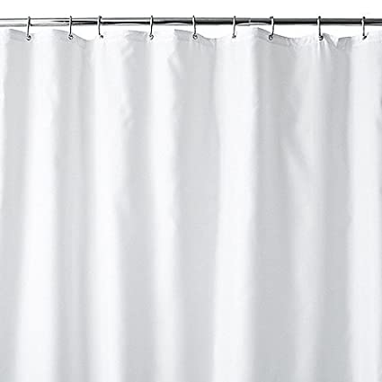 Wamsutta 54 Inch X 78 Shower Stall Fabric Curtain Liner With Suction Cups