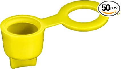 50 Grease Fitting Caps Yellow Polyethylene Clipsandfasteners Inc