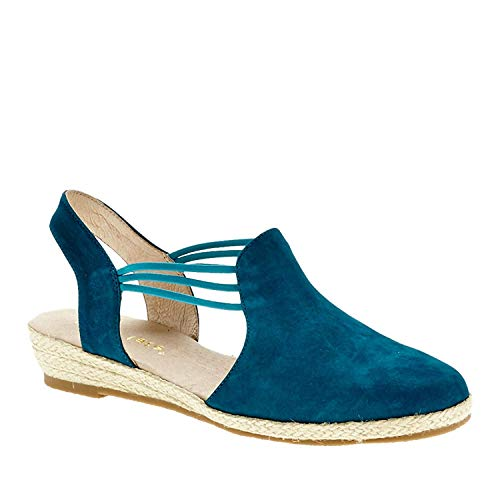 (David Tate Women's Nelly Slingback,Turquoise Nubuck,US 7.5 N)
