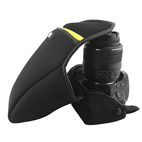 ARCHE Neoprene Protection Camera Case, Universal Size, DSLR/SLR Camera for Nikon D40 D50 D60 D600 D3100 D3200 D5100 D5200 D5500 with 18-55mm /18-105mm Lens (Medium Size / L60 x D110 x H160) (Nikon D600 Camera Strap)