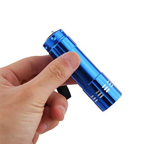 light Mini Aluminum Uv Violet 9 Flashlight Blacklight Torch Light Lamp Outdoor L70419 Drop Ship,Silver ()
