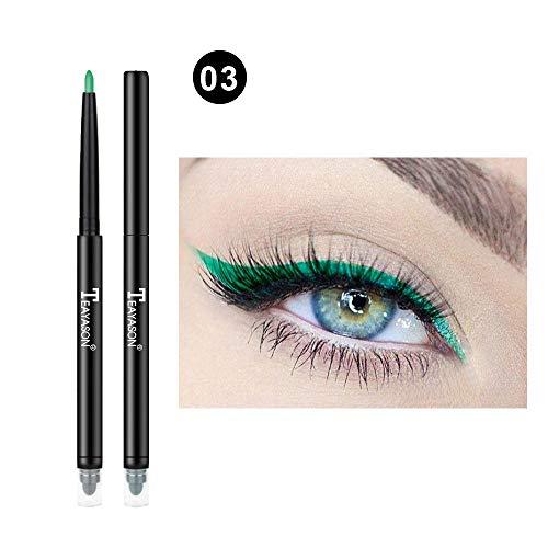 - GoodLock Hot!! 12 Colors Fashion Eyeliner Women Ladies Glitter Eye Shadow Lip Liner Eyeliner Pencil Pen Makeup Cosmetic Long-Lasting Colorful Makeup (C)
