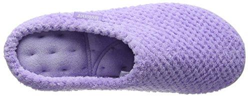 Isotoner Isotoner Ladies Popcorn Mule Slippers - Pantuflas Mujer Morado (Lavender)