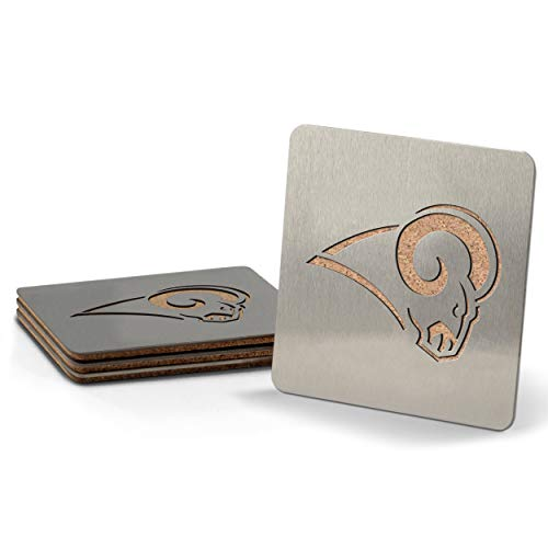 NFL Los Angeles Rams Boaster Stainless Steel Coaster Set of 4