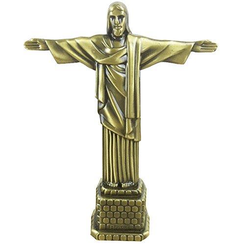 Statue of Jesus Figurine Art Christian Statue Model for Home Decoration-Antique Brass 7 inch (Jesus) ()