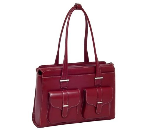 McKlein Alexis Checkpoint Friendly 15.4 Womens Laptop Bag Red by McKleinUSA