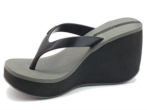 Chancas para mujer Ipanema zeppa alta caucho negro Black Gray