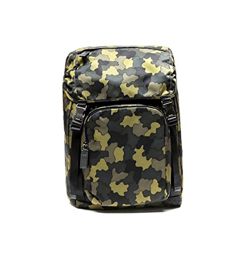 Prada Men's Top Flap Travel Backpack One Size Camouflage by Prada (Image #1)