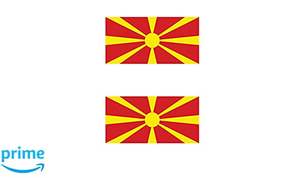 Set of 4x sticker vinyl car bumper decal outdoor car moto world flag macedonia