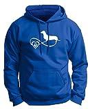 royal 4x hooded - Dachshund Gifts Dachshund Dog Gift Infinite Love Infinity Symbol Premium Hoodie Sweatshirt 3XL Royal