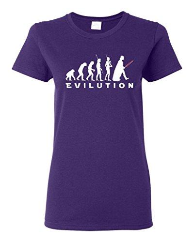 Ladies Vader Evilution Darkside T-Shirt Tee (Medium, Purple)