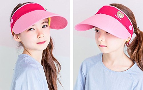 RockFox 2017 Newest style kids Sun hat, cotton breathable, anti-static and puvioresistant visor for children, 6colours , 19.68-21.26 in.. for $<!--$8.99-->