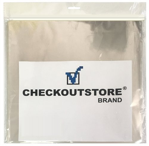 2,500 CheckOutStore Clear Plastic OPP Outer Sleeves for 12'' Vinyl 33 RPM Records
