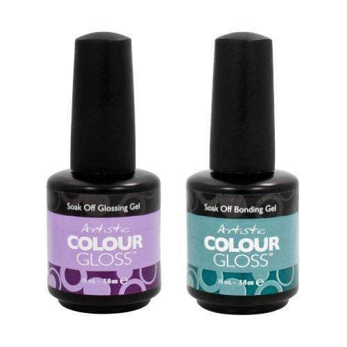 Artistic nail amazon artistic nail design 2 piece salon manicure bundle bonding gel gloss coat 5oz prinsesfo Image collections
