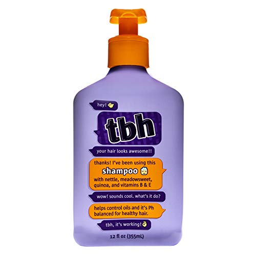 TBH Kids Shampoo - Oil Controlling Shampoo - Sulfate, Paraben Free - 12 oz (Best Shampoo For Child's Greasy Hair)