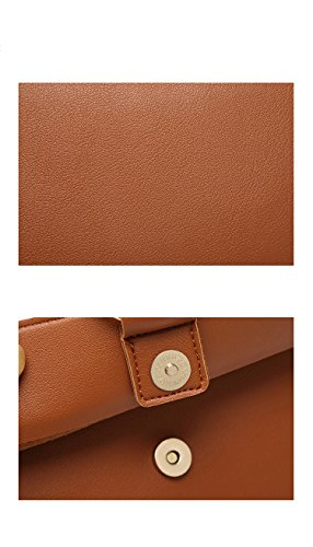 Leather Bag Shoulder Orfila Small Crossbody Handbags Adjustable Purse PU Womens Brown qzTxTg4wY6