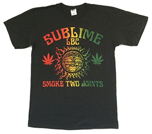 Sublime Smoke Two Joints LBC 40oz Sun Black T Shirt Band (L)