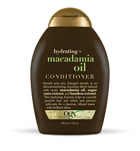 (OGX Conditioner Hydrating Macadamia Oil (1) 13 Ounce Bottle Hydrating and Nourishing Conditioner with Macadamia, Paraben Free Sustainable Ingredients; Awaken Your Senses)