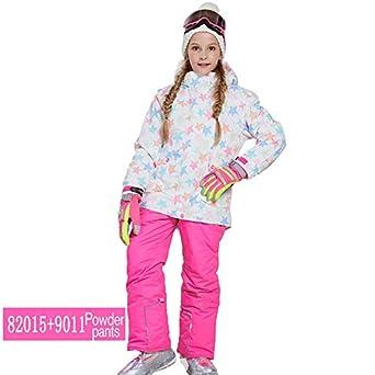 Amazon.com: Traje de esquí para niños impermeable pantalones ...