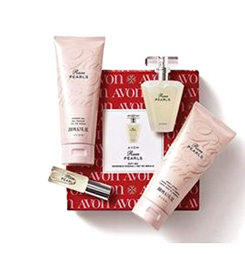 Avon Rare Pearls Boxed Perfume Gift Set 4 pcs Sold by The Glam Shop