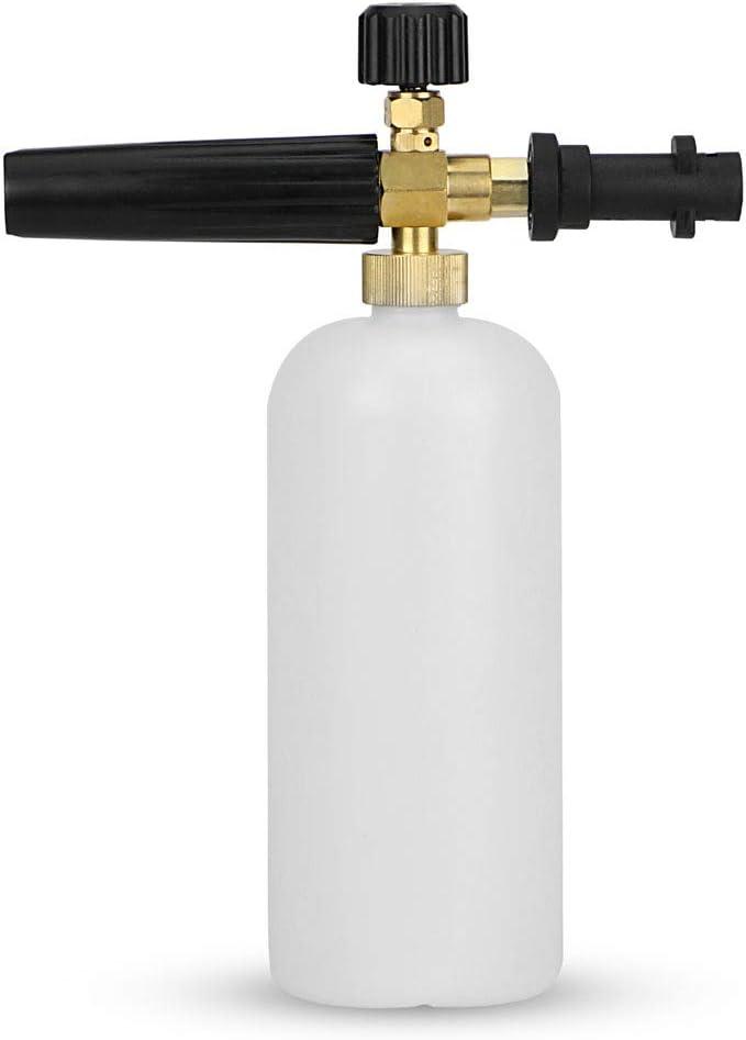 KKmoon Snow Foam Lance Auto Pressure Washer Jet Quick Release Foam Blaster Compatible with Karcher K2-K7 Pukkr