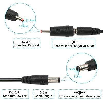 USB to 9v, 5v to 12v Step Up, DROK USB Cable 5V Boost to 9V 12V Voltage Converter 1A Step-up Volt Transformer DC Power Regulator Line with LED Display: Home Audio & Theater