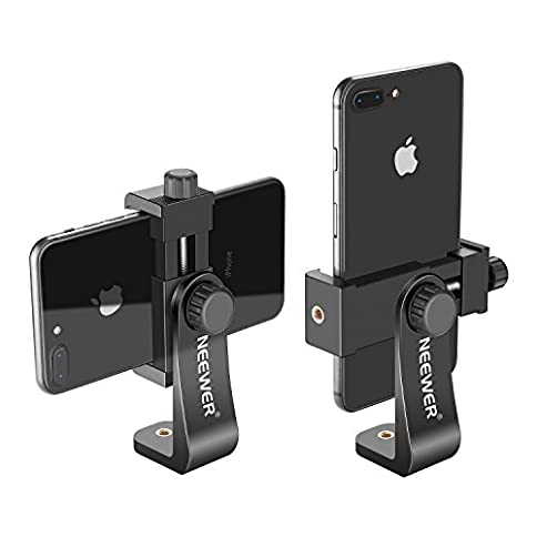 Neewer Smartphone Holder Vertical Bracket with 1/4-inch Tripod Mount - Phone Clip Tripod Adapter for iPhone Xs MAX/XS/ XR/X/ 8, Samsung S9+/ S9/ S8 and Other Phones Within 1.9-3.9 inches Width - 41k 2BLCpIJcL - Neewer Smartphone Holder Vertical Bracket with 1/4-inch Tripod Mount – Phone Clip Tripod Adapter for iPhone Xs MAX/XS/XR/X/ 8, Samsung S9+/ S9/ S8 and Other Phones Within 1.9-3.9 inches Width