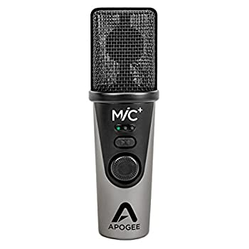 Image of Multipurpose Apogee MiC Plus - Studio Quality USB Microphone with Cardioid Condenser Mic Capsule, Built In Mic Pre-Amp & Zero-Latency Headphone Output