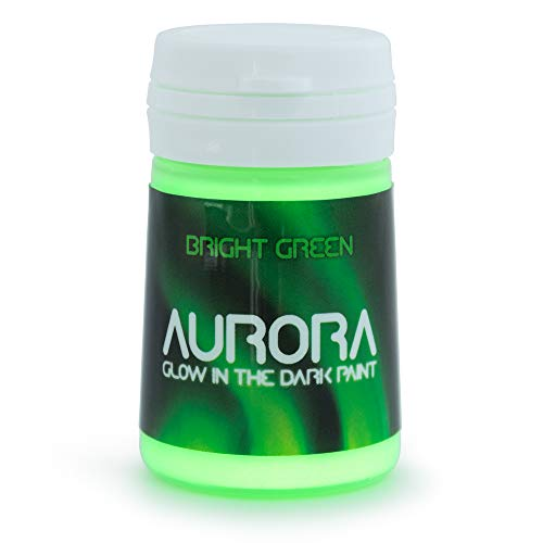 Glow in The Dark Paint, 0.68 fl oz (20ml), Aurora Bright Green, Non-Toxic, Water Based, by SpaceBeams ()