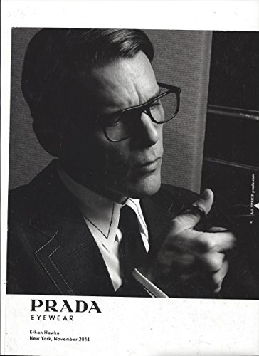 **PRINT AD** With Ethan Hawke For 2014 Prada Sunglasses **PRINT AD** - Prada Ad Sunglasses