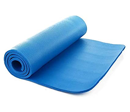 Amazon.com : Blue Extra Thick Non-Slip 15mm Yoga Mat Pad ...