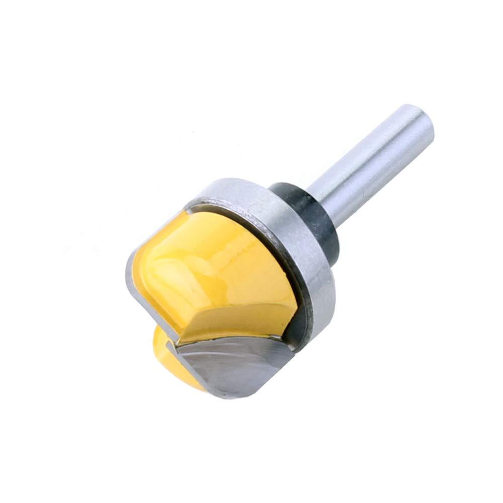 Herramientas de Carpinter/ía de Baquelita de Fondo Redondo- Amarillo Gasea 1//4 de Mango Fresa de madera Cuchillo de Fondo Redondo Fresa Para Trabajar la Madera Recorte