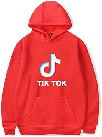 ティックトックレディーススウェットシャツファッションショートトップロングスリーブカジュアルショートプルオーバーを印刷パーカージョギングパーカー,赤,XL