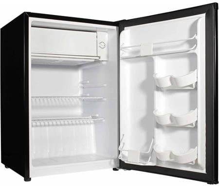 Compact Design Refrigerator with Ice Cube Tray and Two Full-Width Wire Shelves Virtual Steel 2.7 Cu ft