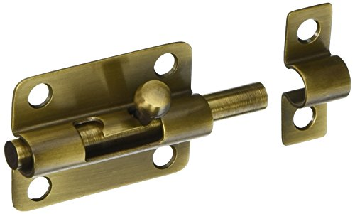 Deltana 3BBU5 Solid Brass 3-Inch Barrel (Antique Brass Door Bolt)